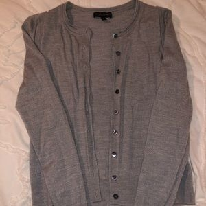 Banafna Republic gray stretch-cotton cardigan S